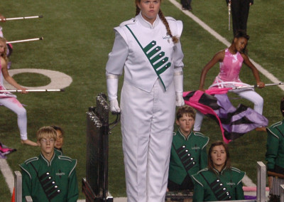 2012-Sarah was the head drum major for her 350+ person marching band